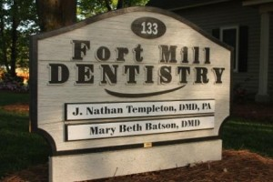 Fort Mill Dentistry front sign directions