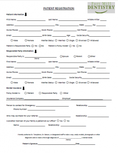 New patient Forms Image